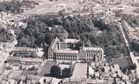 Luchtfoto van het domein te Lede.