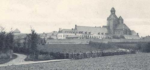 De abdij en het Gesticht van Mesen voor W.O. I.